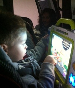 joe with tablet