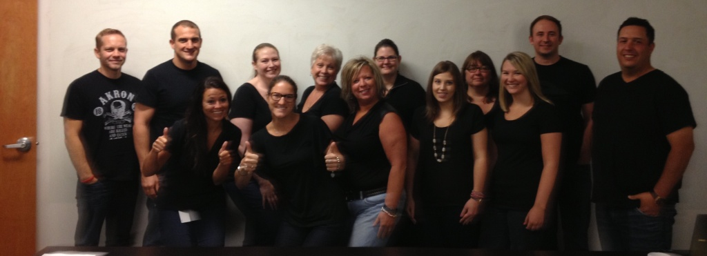 Some of the Client Success Team decided to have a 'Dress Like Dutch Day.' Dutch Hollis, our General Manager of Client Success, wears a black shirt to work each day. Perhaps he's channeling Steve Jobs?